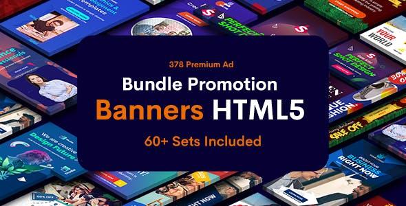 Bundle Promotion Banners HTML5 GWD & PSD - 60 Sets