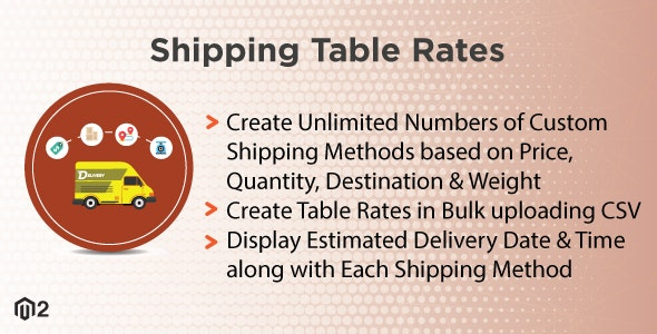 Magento 2 Shipping Table Rates - CodeCanyon Item for Sale