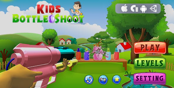 Kids Bottle Shoot -Unity3D (Android & IOS) - CodeCanyon Item for Sale