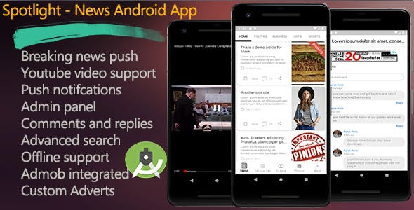 Spotlight - News Android App - CodeCanyon Item for Sale