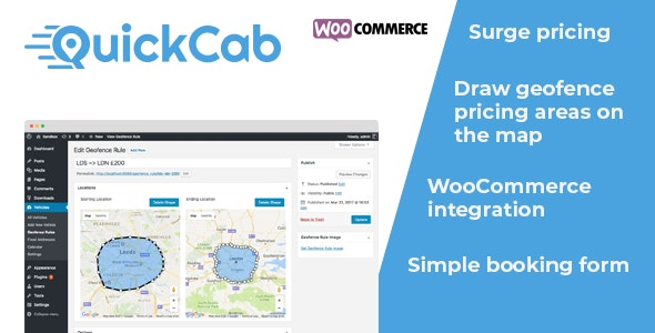 QuickCab: WooCommerce Taxi Booking Plugin - CodeCanyon Item for Sale