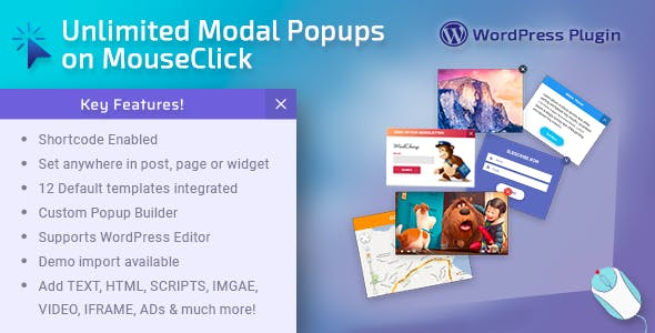 Unlimited Modal POPUPS on MouseClick