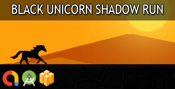 Black unicorn shadow run - Android Studio + Buildbox Template + Admob + GDPR + API 27 + Eclipse