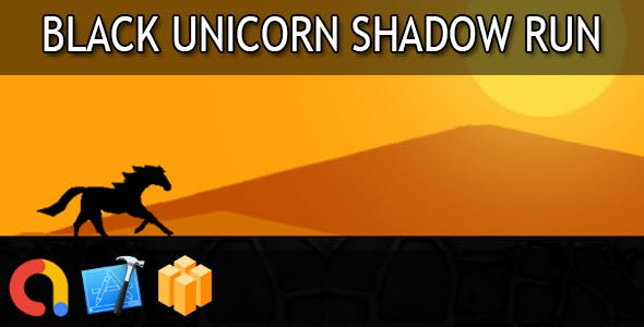 Black unicorn shadow run - iOS Xcode 10 + Buildbox Template + Admob