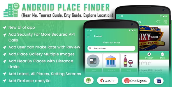 Android Place Finder (Near Me,Tourist Guide,City Guide,Explore