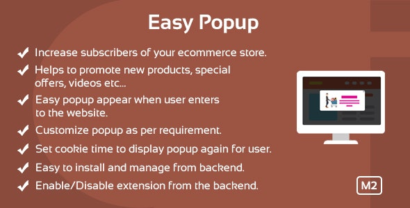 Easy Popup Magento 2 Extension - CodeCanyon Item for Sale