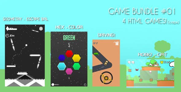 HTML GAME BUNDLE #01 (4 GAMES - CAPX)