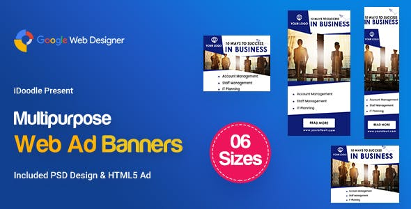 C22 - Multipurpose, Business, Startup Banners GWD & PSD - CodeCanyon Item for Sale