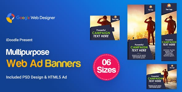 C23 - Multipurpose, Business, Startup Banners GWD & PSD