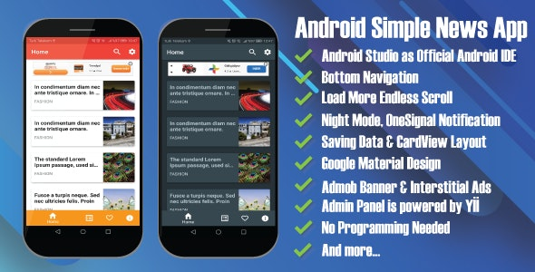 Arthur Android Simple News App - CodeCanyon Item for Sale