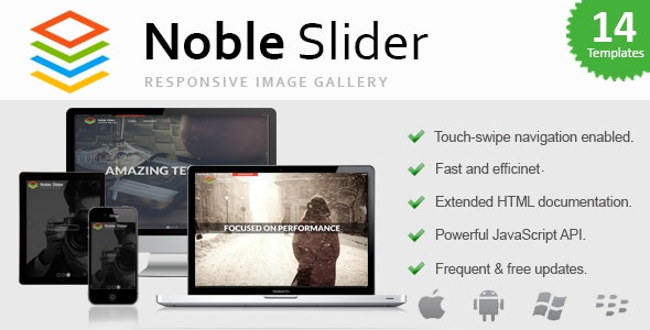 Noble Slider - Professional jQuery Gallery (Touch-Enabled