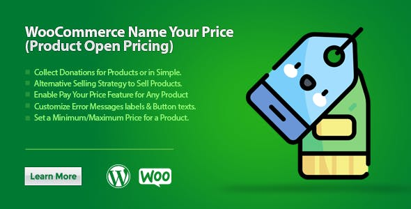 WooCommerce Name Your Price (Product Open Pricing) - CodeCanyon Item for Sale