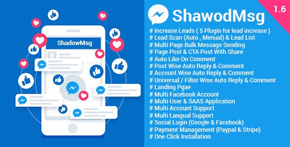 ShadowMsg - Top Facebook Marketing Application - CodeCanyon Item for Sale