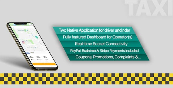 Taxi Application iOS Solution + Dashboard