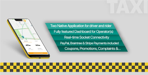 Taxi application Android solution + Dashboard - CodeCanyon Item for Sale