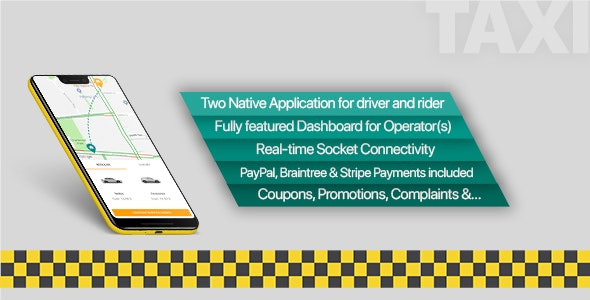 Taxi application Android solution + Dashboard by