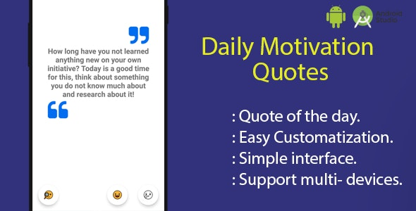 Daily Motivation Quotes - Android Project - CodeCanyon Item for Sale