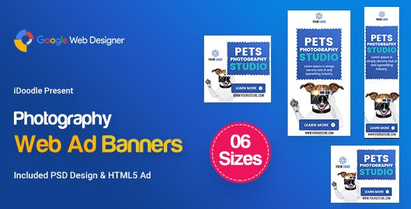 C26 - Photography Banners HTML5 - GWD & PSD