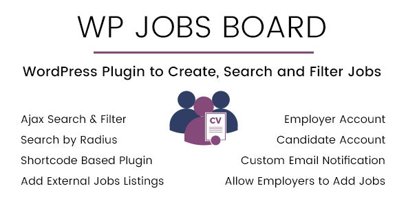 WP Jobs Board - Ajax Search and Filter WordPress Plugin - CodeCanyon Item for Sale