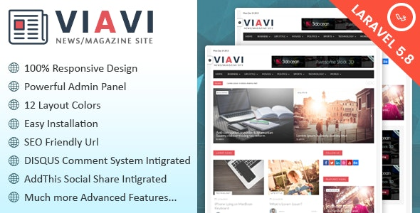 Viavi - News, Magazine, Blog Script - CodeCanyon Item for Sale
