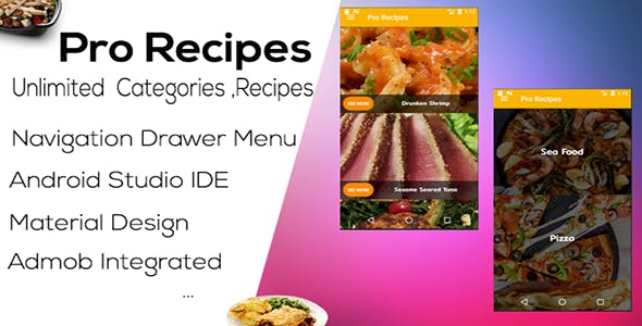 Pro Recipes App ( Admob - Android Studio )