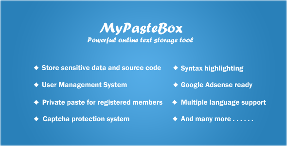 MyPasteBox - Powerful paste tool - CodeCanyon Item for Sale