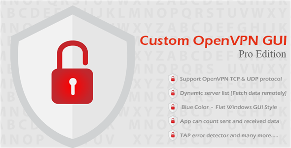Custom OpenVPN GUI Pro Edition - CodeCanyon Item for Sale