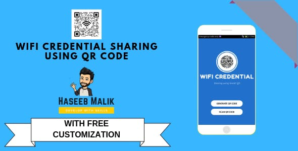 Wifi Credential Sharing using QR