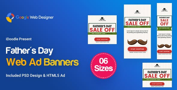C29 - Father's Day HTML5 - GWD & PSD - CodeCanyon Item for Sale