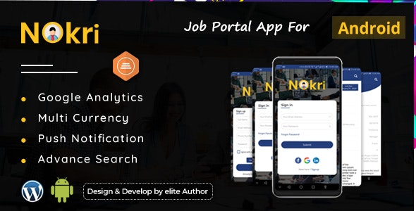 Nokri - Job Board Native Android App by scriptsbundle
