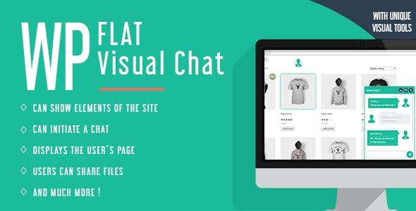 WP Flat Visual Chat - Live Chat & Remote View for Wordpress        Nulled