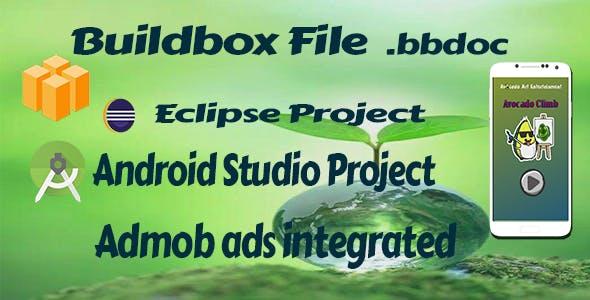 Avocado Climb Game - Android Studio and Buildbox