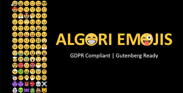 Algori Emojis for WordPress Gutenberg - CodeCanyon Item for Sale