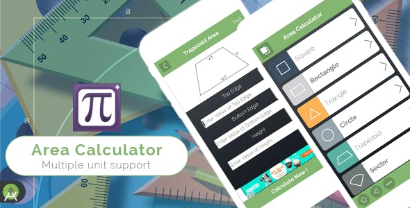 Area Calculator for Android - Full Application with PSD