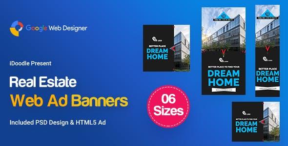 C32 - Real Estate HTML5 Ad - GWD & PSD