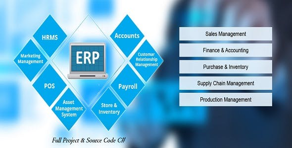 ERP 2 Full Project & Source Code C# New 2019