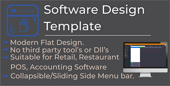 Flat Modern Software Design Template