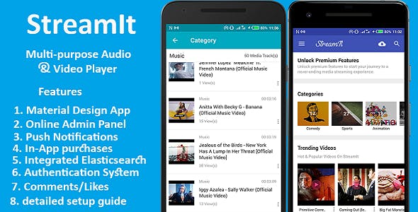 StreamIt - Multi-purpose Audio & Video Streaming app.
