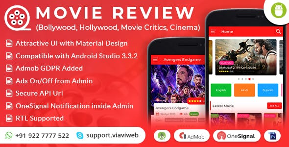 Android Movie Review App (Bollywood, Hollywood, Movie Critics, Cinema)