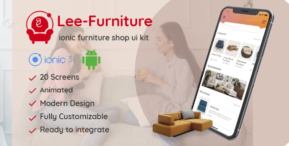 Lee - Ionic Furniture Shop Ui Theme - CodeCanyon Item for Sale
