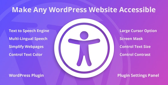 Accessibility WordPress Plugin - CodeCanyon Item for Sale