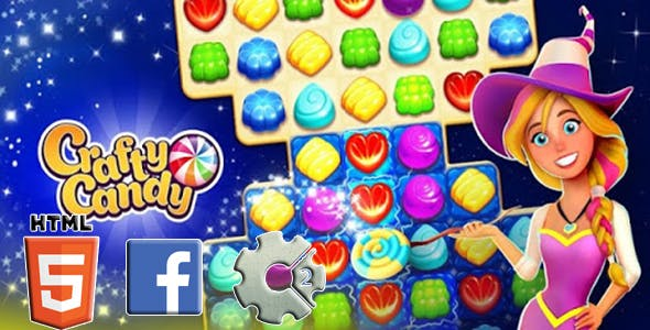 CААNDY MATCH HTML5 GAME INSTANT+FB ADS+READY FOR PUBLISH