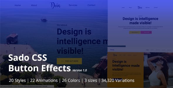 Sado CSS3 Button Effects Pack - CodeCanyon Item for Sale