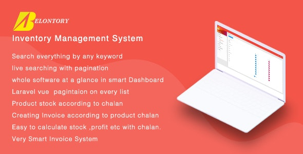 Belontory - Vue Laravel Inventory Management System by
