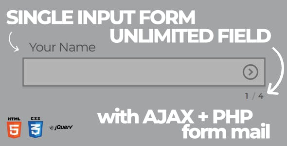 Single Input Form Interface with AJAX + PHP Formmail (Multipurpose)