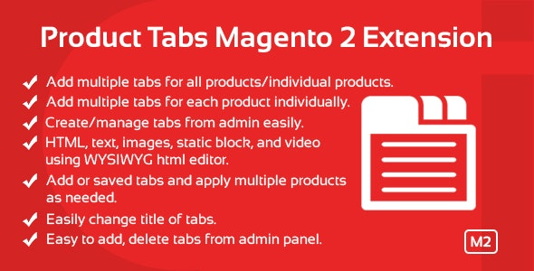 Product Tabs Magento 2 Extension - CodeCanyon Item for Sale