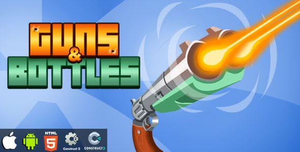 Guns & Bottles - HTML5 Game (Construct 2)(Construct 3)