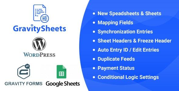 GravitySheets - Gravity Forms Google Spreadsheet Addon - CodeCanyon Item for Sale
