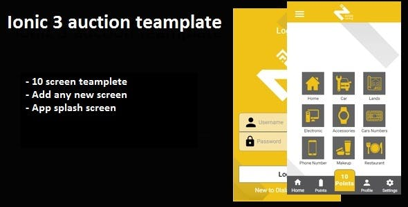 Auction ionic 3 app template - CodeCanyon Item for Sale