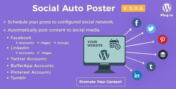 Social Auto Poster - WordPress Plugin        Nulled